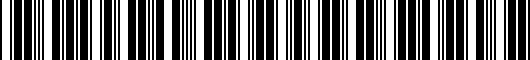 Barcode for 4B0601170725