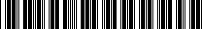 Barcode for ZAW019819