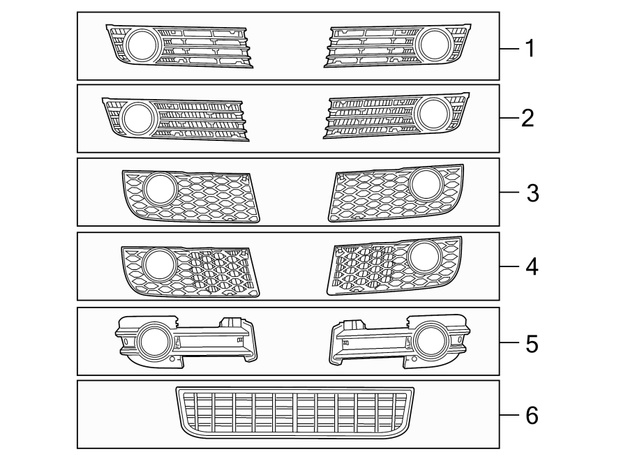 Audi S4 Grille  S4  Group  Components  Body